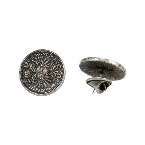 Ansteck-Pins Münzen 2er-Set (antik-silber-farben) Bild 1