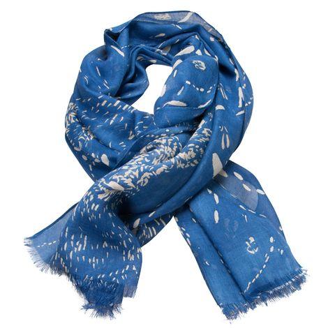 Trachtenschal Spurensuche Hirsch (blau)