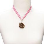 Trachtenkette Brezel (pink-fuchsia)