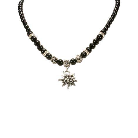 Edelweiß-Perlenkette Fiona klein (schwarz) Bild 2