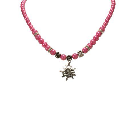 Edelweiß-Perlenkette Fiona klein (pink-fuchsia) Bild 2