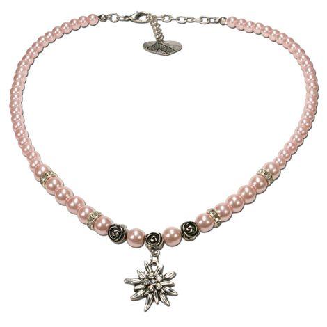 Edelweiß-Perlenkette Fiona klein (rosé-rosa) Bild 1