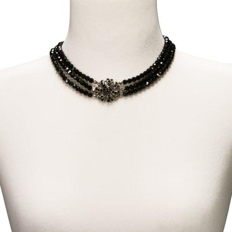 Perlen-Collier Jasmin (schwarz) Bild 4