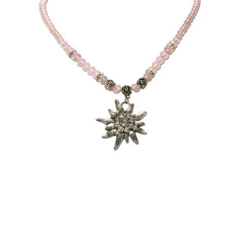 Edelweiß-Perlenkette Fiona Crystal (rosé-rosa) Bild 2