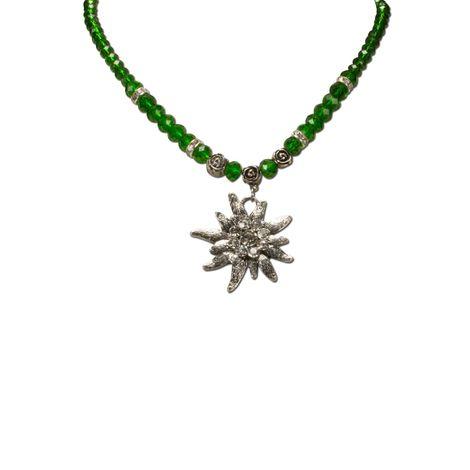Edelweiß-Perlenkette Fiona Crystal (grün) Bild 2