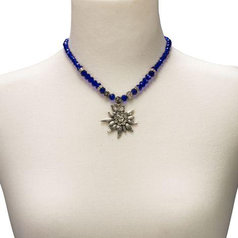 Edelweiß-Perlenkette Fiona Crystal (blau) Bild 3