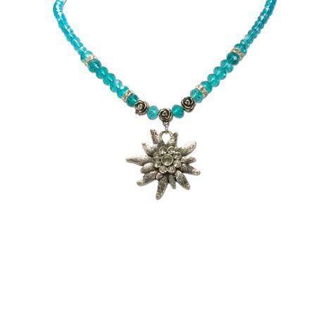 Edelweiß-Perlenkette Fiona Crystal (türkis) Bild 2