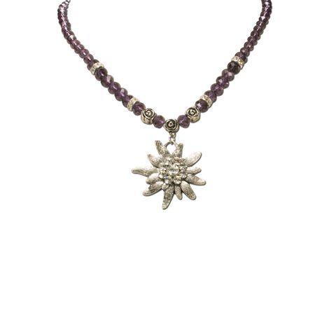 Edelweiß-Perlenkette Fiona Crystal (lila-violett) Bild 2