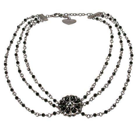 Perlen-Halskette Viola (schwarz) Bild 1
