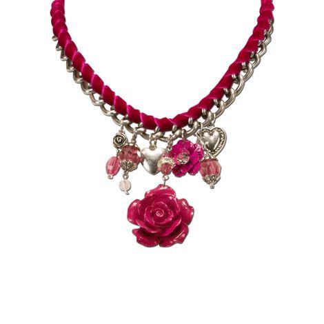 Blüten-Trachtenkette Isabella (pink-fuchsia) Bild 2