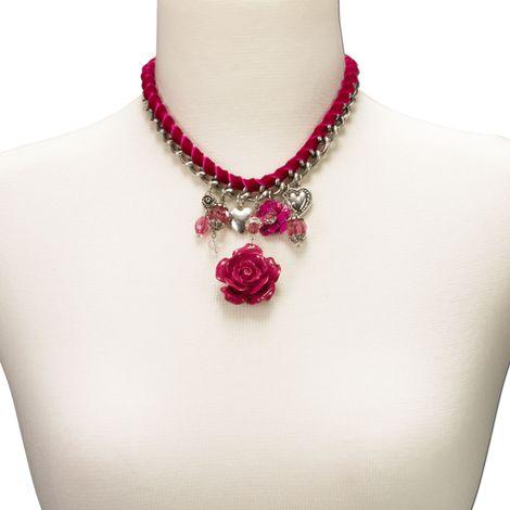 Blüten-Trachtenkette Isabella (pink-fuchsia) Bild 3