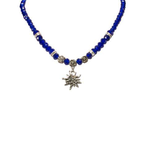 Edelweiß-Perlenkette Fiona klein Crystal (blau) Bild 2