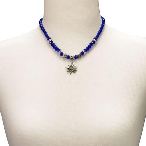 Edelweiß-Perlenkette Fiona klein Crystal (blau) Bild 3
