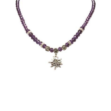 Edelweiß-Perlenkette Fiona klein Crystal (lila-violett) Bild 2