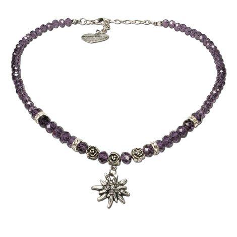 Edelweiß-Perlenkette Fiona klein Crystal (lila-violett) Bild 1