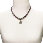Edelweiß-Perlenkette Fiona klein Crystal (lila-violett)