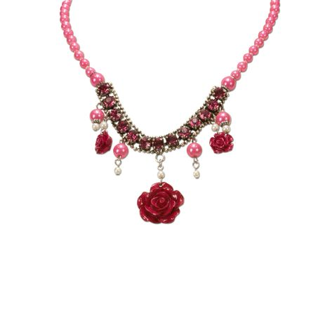 Blüten-Perlenkette Flora (pink-fuchsia) Bild 3
