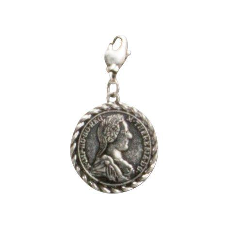 Anhänger Rahmenmünze klein (antik-silber-farben) Bild 1