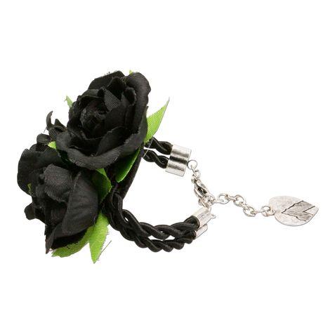 Blüten-Armkette Celine (schwarz) Bild 4
