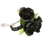 Blüten-Armkette Celine (schwarz)