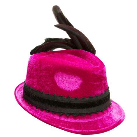 Samthut Hahnenschlappenfeder  (pink-fuchsia) Bild 4