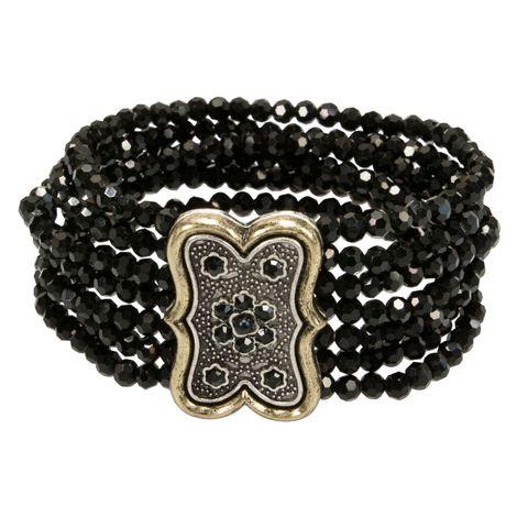 Perlenarmband Minna (schwarz) Bild 5
