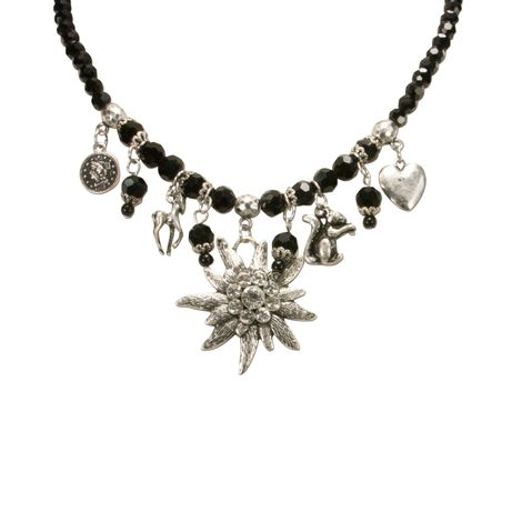 Perlen-Trachtenkette Marie (schwarz) Bild 4