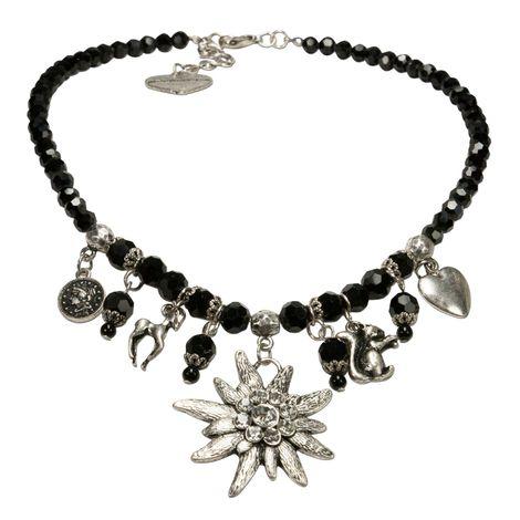 Perlen-Trachtenkette Marie (schwarz) Bild 1