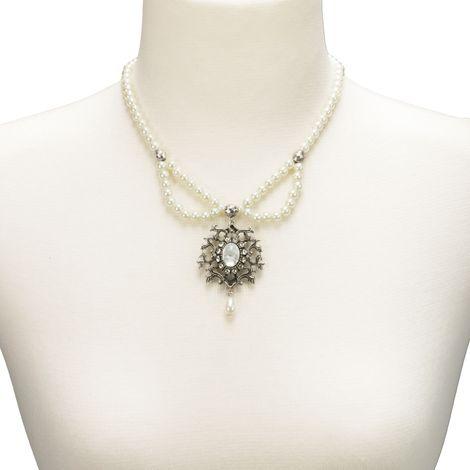 Perlen-Halskette Auguste (creme-weiß) Bild 4