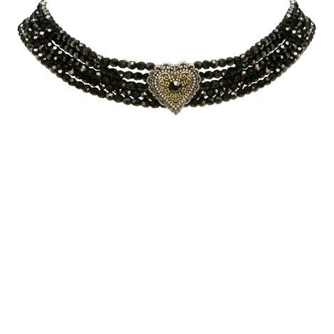 Perlen-Kropfkette Margarethe (schwarz) Bild 3