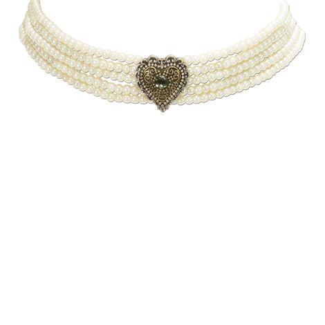 Perlen-Kropfkette Margarethe (creme-weiß) Bild 3