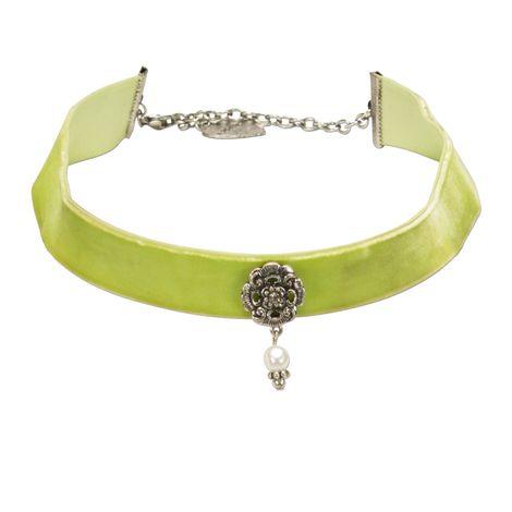 Trachten-Samt-Kropfband Frida (hell-grün)