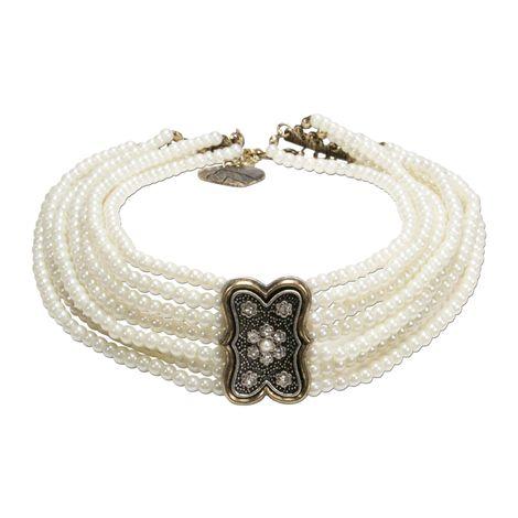 Perlen-Kropfkette Minna (creme-weiß) Bild 1