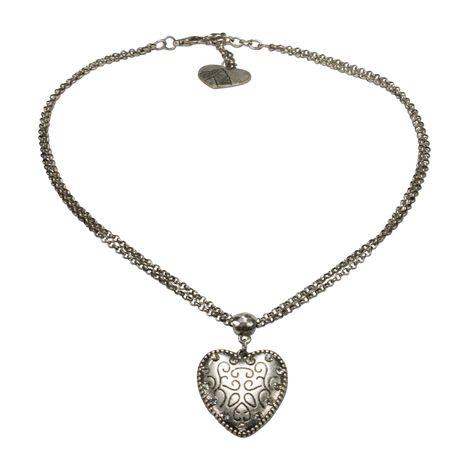 Halskette Herz klein (antik-silber-farben) Bild 1