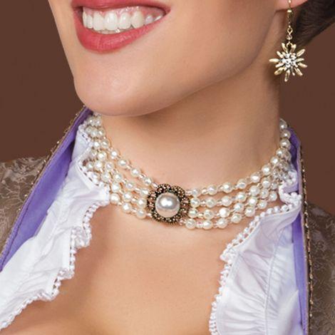 Perlen-Kropfkette Annie (creme-weiß) Bild 2