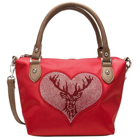 Trachten-Handtasche Strass-Hirsch (rot)