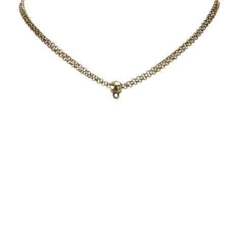 Halskette 2-reihig für Anhänger (antik-gold-farben) Bild 2