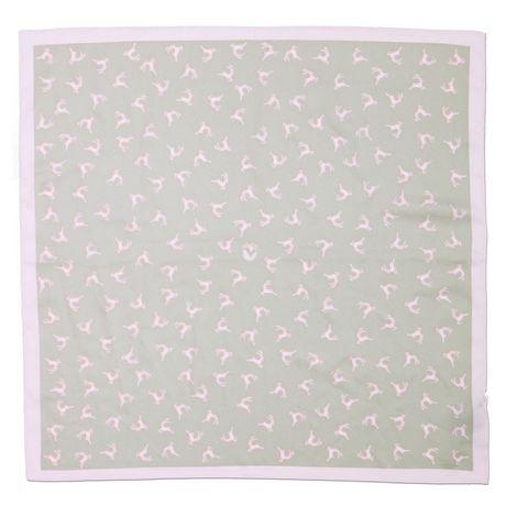 Nickituch Springende Hirsche (rosa-braun) Bild 3