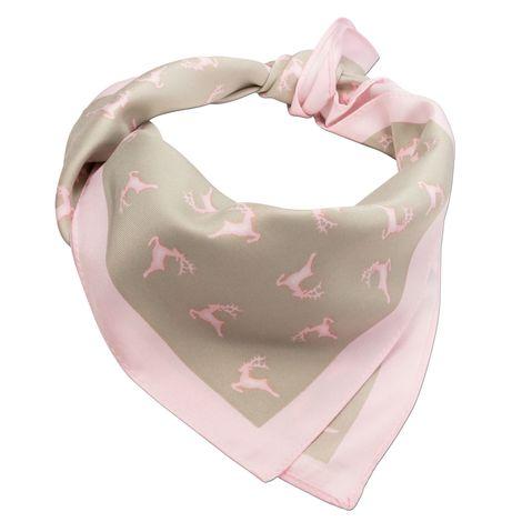 Nickituch Springende Hirsche (rosa-braun) Bild 4