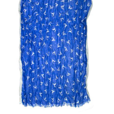Crush-Trachtenschal Springende Hirsche (blau) Bild 2