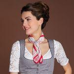 Tuchhalter Strass-Edelweiss (antik-silber-farben)