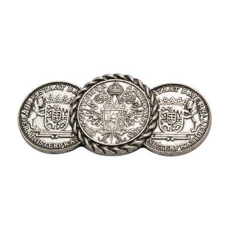 Blusenbrosche Münzen (antik-silber-farben) Bild 1
