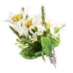Blütenbrosche Edelweiss (bunt)