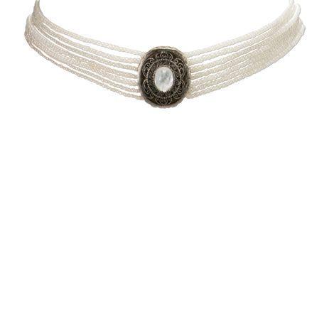 Perlen-Kropfkette Josepha (weiß) Bild 3