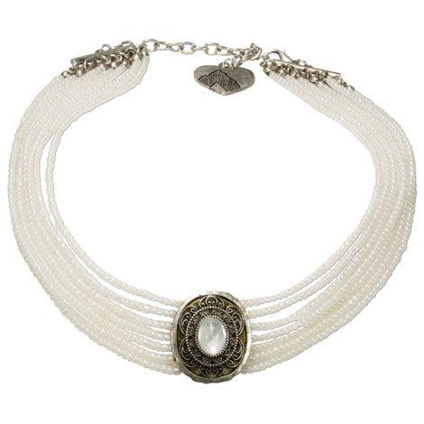 Perlen-Kropfkette Josepha (weiß) Bild 1