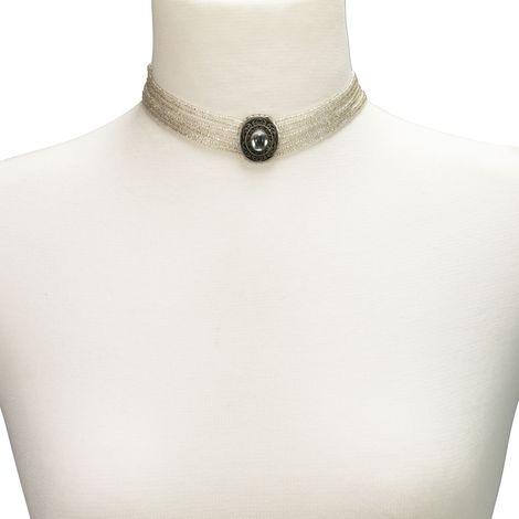 Perlen-Kropfkette Josepha (klar-kristall) Bild 4