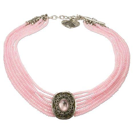 Perlen-Kropfkette Josepha (rosé-rosa) Bild 1
