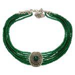 Perlen-Kropfkette Josepha (grün)
