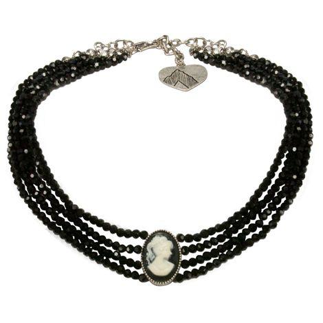 Trachten-Perlen-Kropfkette Gemme (schwarz)
