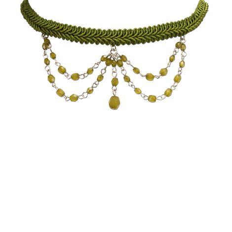 Borten-Kropfband Ida (grün) Bild 3